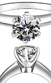 1: 1 Kopie echte Markenqualität 0.6ct Solitär Verlobungsring sona Diamant-Fingerring 6prongs Einstellung solide 925 Silber