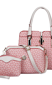 Women-Formal / Casual / Office & Career / Shopping-PU-Tote-Beige / Pink / Blue