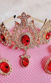 Donne Strass / Cristalli / Lega Copricapo-Matrimonio / Occasioni speciali / All'aperto Tiare 2 pezzi