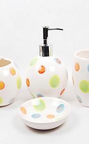 многоцветные круглая точка ванной четыре кусок костюм (случайный цвет)