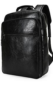 New Men Women Leather Backpack Large Capacity Rucksack Satchel Shoulder Bag