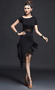 Latin Dance Dresses Women's Performance Chinlon / Nylon Tassel(s) 1 Piece Slim Dance Costumes