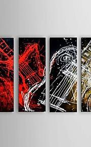 Hånd-malede Abstrakt Moderne / Europæisk Stil,Fire Paneler Hang-Painted Oliemaleri