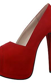 Chaussures Femme-Mariage / Extérieure / Soirée & Evénement-Noir / Vert / Rose / Rouge / Gris / Fuchsia-Talon Aiguille-Talons / Bout Ouvert