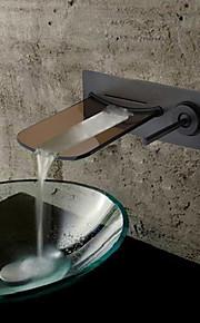 Montaggio su parete Una manopola Due fori in Bronzo lucidato Lavandino rubinetto del bagno