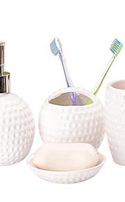enkle dekorative mønster smilende ansigt badeværelse fire heldragt