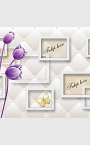 Mural Fleur Papier peint Contemporain Revêtement,Toile Oui