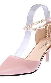 Chaussures Femme-Mariage / Bureau & Travail / Habillé / Décontracté / Soirée & Evénement-Noir / Rose / Blanc-Talon Aiguille-Talons / Bout
