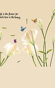 ботанический / Слова и фразы / Натюрморт / Мода / Цветы / Отдых Наклейки Простые наклейки,PVC 90*60*0.1