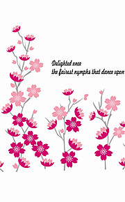 Wall Stickers Wall Decals Style Peach Blossom in Full Bloom PVC Wall Stickers