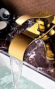 По центру Одной ручкой одно отверстие in Титан с влогоотталкивающим покрытием Ванная раковина кран