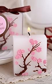 Thème asiatique / Thème classique / Thème de conte de fées / Fête prénatale Favors Candle-1 Piece / Set Bougies Non personnalisé Blanc