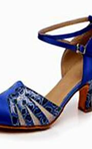 Sapatos de Dança(Azul) -Feminino-Não Personalizável-Latina