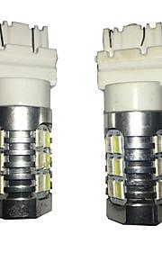 2 stk 3157 24W 24 smd for Cruze bil førte blinklys lampe, bil bremse lampe, bil back-up lampe