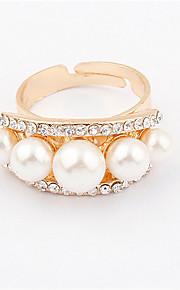 Alliances Femme / Amoureux Imitation de perle / Stras Alliage Alliage