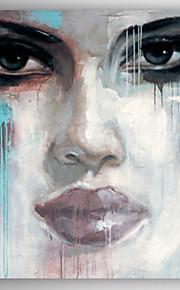 Peint à la main Personnage Modern,Un Panneau Peinture à l'huile Hang-peint