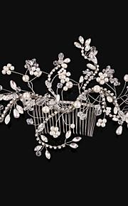 Donne Cristalli / Lega / Perle false Copricapo-Matrimonio / Occasioni speciali Fermagli 1 pezzo