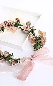 Women's / Flower Girl's Foam / Fabric Headpiece-Wedding / Special Occasion / Casual / Outdoor Wreaths 1 Piece