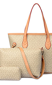 Women-Formal / Casual / Office & Career / Shopping-PU-Tote-Beige / Pink / Blue / Brown