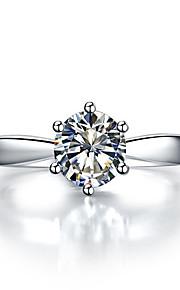 8mm Herzen und Pfeile 2ct 6prongs Solitär Verlobungsring für Frauen gestempelt Sterling Silber Diamant-Ring PT950 Einstellung