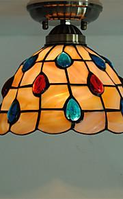 8 inch Retro Tiffany Ceiling Lamp /Shell Shade Flush Mount Living Room Dining Room light Fixture