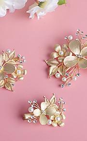 Donne / Bambina Perle / Strass / Lega Copricapo-Matrimonio / Occasioni speciali Fermacapelli 3 pezzi