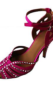 Sapatos de Dança(Amarelo / Fúcsia) -Feminino-Não Personalizável-Latina / Sapatos de Swing