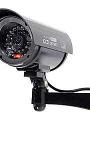 kingneo 1pc all'aperto videocamera di sicurezza fittizia simulata telecamera di sorveglianza nero