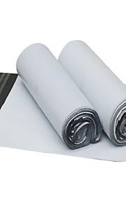 לבן מעובה שקית אריזה ולוגיסטיקה עמידה למים (32 * 43cm, 100 / חבילה)
