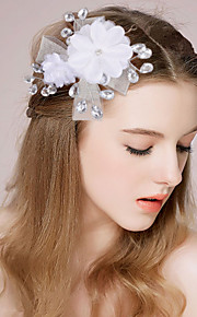 Women's / Flower Girl's Satin / Imitation Pearl Headpiece-Wedding / Special Occasion Headbands / Flowers 1 Piece