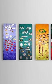 Hånd-malede Abstrakt Moderne,Fem Paneler Hang-Painted Oliemaleri