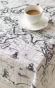 globale kaart patroon tafelkleed mode hotsale hoogwaardige katoen vierkante salontafel hoes van textiel handdoek