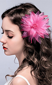 Women's Fabric Headpiece-Wedding / Special Occasion Birdal Flowers / Hair Clip 1 Piece