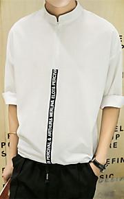 Katoen-Print-Heren-T-shirt-Informeel / Werk / Formeel / Sport-Lange mouw