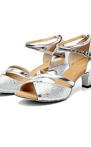 Sapatos de Dança(Preto / Prateado / Dourado) -Feminino-Não Personalizável-Latina / Jazz