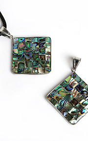 Pendentifs Coquillage Square Shape comme image / Nactural 1Pc