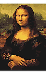 Hand Painted Oil Painting Mona lisa Unique Gift with Stretched Frame Ready to Hang