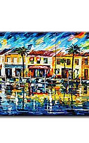 Maalattu Abstrakti Moderni / Classic / Perinteinen / Realismi / Välimeren / Pastoraali / European Style,1 paneeli KanvasHang-Painted