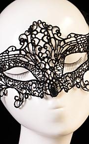 여성 레이스 투구-웨딩 / 특별한날 마스크 1개 블랙 불규칙한 32cm x 10cm  (Masks Lace rope:30 - 50CM) Fit most of Women