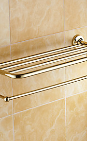 Полка для ванной / Полированная латунь / Крепление на стену /60*15*10 /Медь /Античный /60 15 1.241