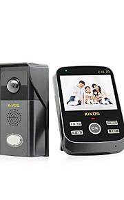 KIVOS husstand elektronisk dørklokke trådløs langdistanceopkald vandtæt kamera kdb303 (den tilfældige med levering)