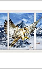 풍경 벽 스티커 3D 월 스티커 데코레이티브 월 스티커,PVC 자료 이동가능 홈 장식 벽 데칼