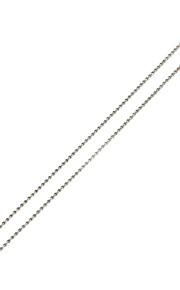 Collier Colliers chaînes Bijoux Argent Acier inoxydable Quotidien 5pcs Cadeau