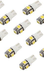 youoklight® 10stk t10 1,2 W 150lm 5-smd5050 6000K hvidt lys førte bil pære (12V)