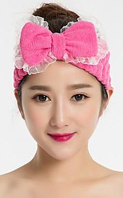 Lace Bow Headband Face Makeup Hairdo Towel