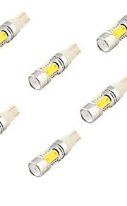 youoklight® 6stk T10 11W 1100lm 4-cob førte 6000K hvidt lys førte bil pære (12-24V)