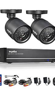 sannce® 4 canais full 960H CCTV DVR com 800tvl visão noturna sistema de câmeras à prova de intempéries