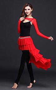 Belly Dance Outfits Women's Performance Modal Draped 4 Pieces Black / Fuchsia / Green / Orange / Royal Blue / Burgundy