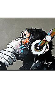유화 동물 스타일 / 우아한 / 클래식 / 전통적 / 사실주의 / 지중해 / 유향 / 유럽 스타일,1판넬 캔버스 항으로 그린 유화 벽 장식