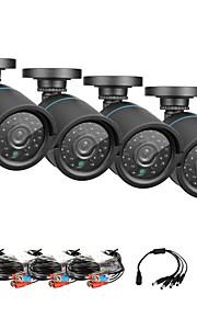 sannce® AHD 720p ir cctv taglio kit per macchine fotografiche interne ed esterne kit del sistema resistente alle intemperie di sicurezza